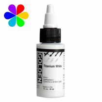 GOLDEN 30ML HIGH FLOW  BLANC TITANE S1