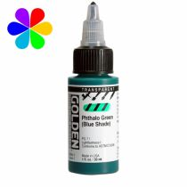GOLDEN 30ML HIGH FLOW  PHTHALO GREEN TRANSPARENT S1