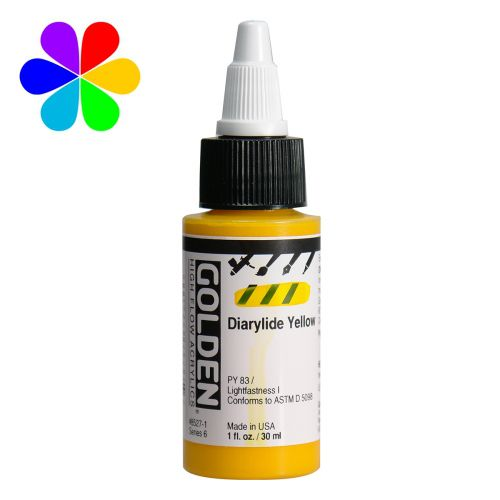 GOLDEN 30ML HIGH FLOW JAUNE DIARYLIDE S6