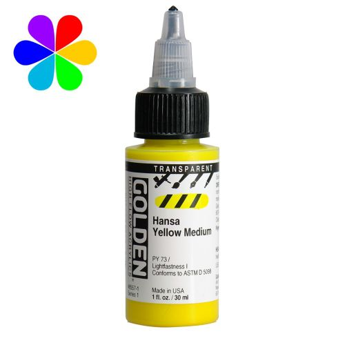 GOLDEN 30ML HIGH FLOW JAUNE HANSA MOYEN TRANSPARENT S1