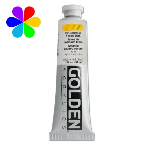 GOLDEN 59ML JAUNE CADMIUM FONCE S7