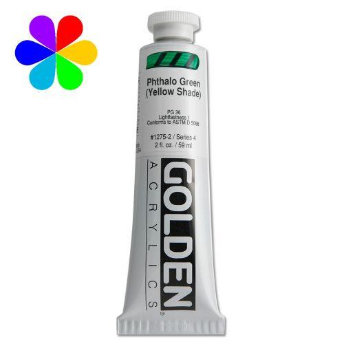 GOLDEN 59ML VERT PHTALO (NUANCE JAUN) S4