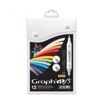 GRAPH\'IT BRUSH SET 12 MARQUEURS COMICS