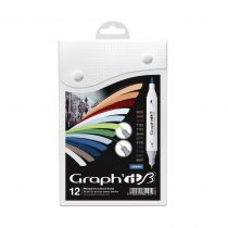 GRAPH\'IT BRUSH SET 12 MARQUEURS URBAN