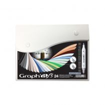 GRAPH\'IT BRUSH SET 24 MARQUEURS ARCHITECTURE