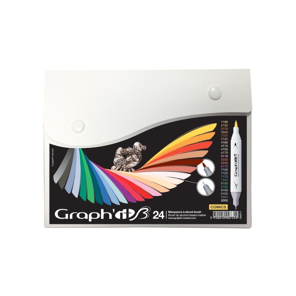 GRAPH\'IT BRUSH SET 24 MARQUEURS COMICS