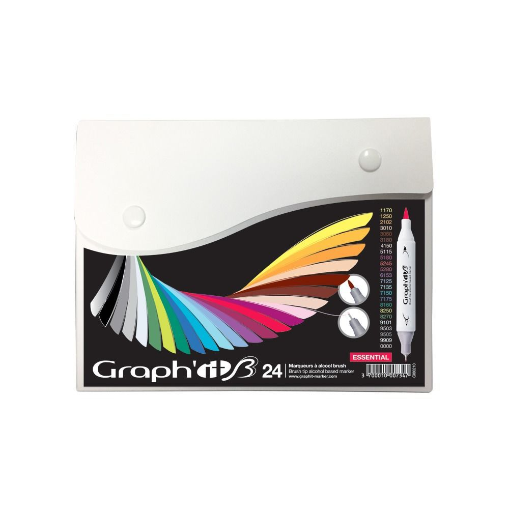 GRAPH\'IT BRUSH SET 24 MARQUEURS ESSENTIAL