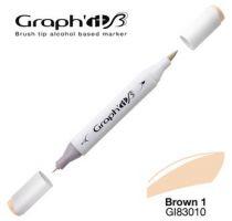 GRAPH\'IT Marqueur brush à alcool 3010 - Basic Brown 1