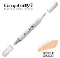 GRAPH\'IT Marqueur brush à alcool 3020 - Basic Brown 2