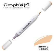 GRAPH\'IT Marqueur brush à alcool 3020 - Basic Brown 2