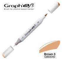 GRAPH\'IT Marqueur brush à alcool 3040 - Basic Brown 3