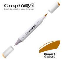 GRAPH\'IT Marqueur brush à alcool 3050 - Basic Brown 4