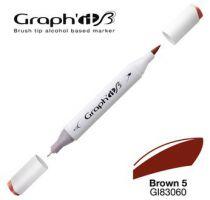 GRAPH\'IT Marqueur brush à alcool 3060 - Basic Brown 5