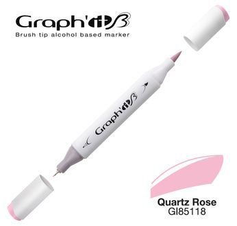 GRAPH\'IT Marqueur brush à alcool 5118 - Quartz Rose