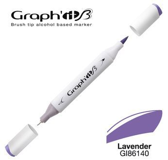 GRAPH\'IT Marqueur brush à alcool 6140 - Lavender