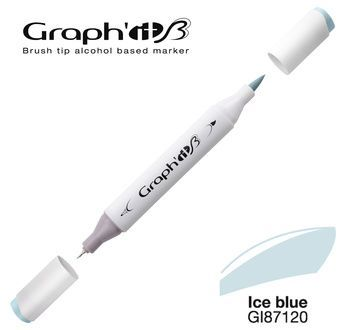 GRAPH\'IT Marqueur brush à alcool 7120 - Ice blue