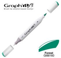 GRAPH\'IT Marqueur brush à alcool 8160 - Forest