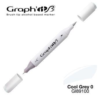 GRAPH\'IT Marqueur brush à alcool 9100 - Cool Grey 0