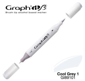 GRAPH\'IT Marqueur brush à alcool 9101 - Cool Grey 1