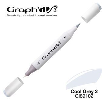 GRAPH\'IT Marqueur brush à alcool 9102 - Cool Grey 2