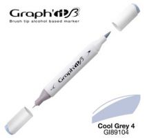 GRAPH\'IT Marqueur brush à alcool 9104 - Cool Grey 4