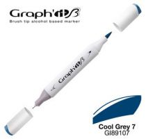 GRAPH\'IT Marqueur brush à alcool 9107 - Cool Grey 7