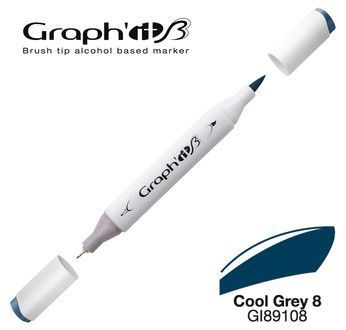 GRAPH\'IT Marqueur brush à alcool 9108 - Cool Grey 8