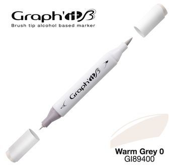 GRAPH\'IT Marqueur brush à alcool 9400 - Warm Grey 0