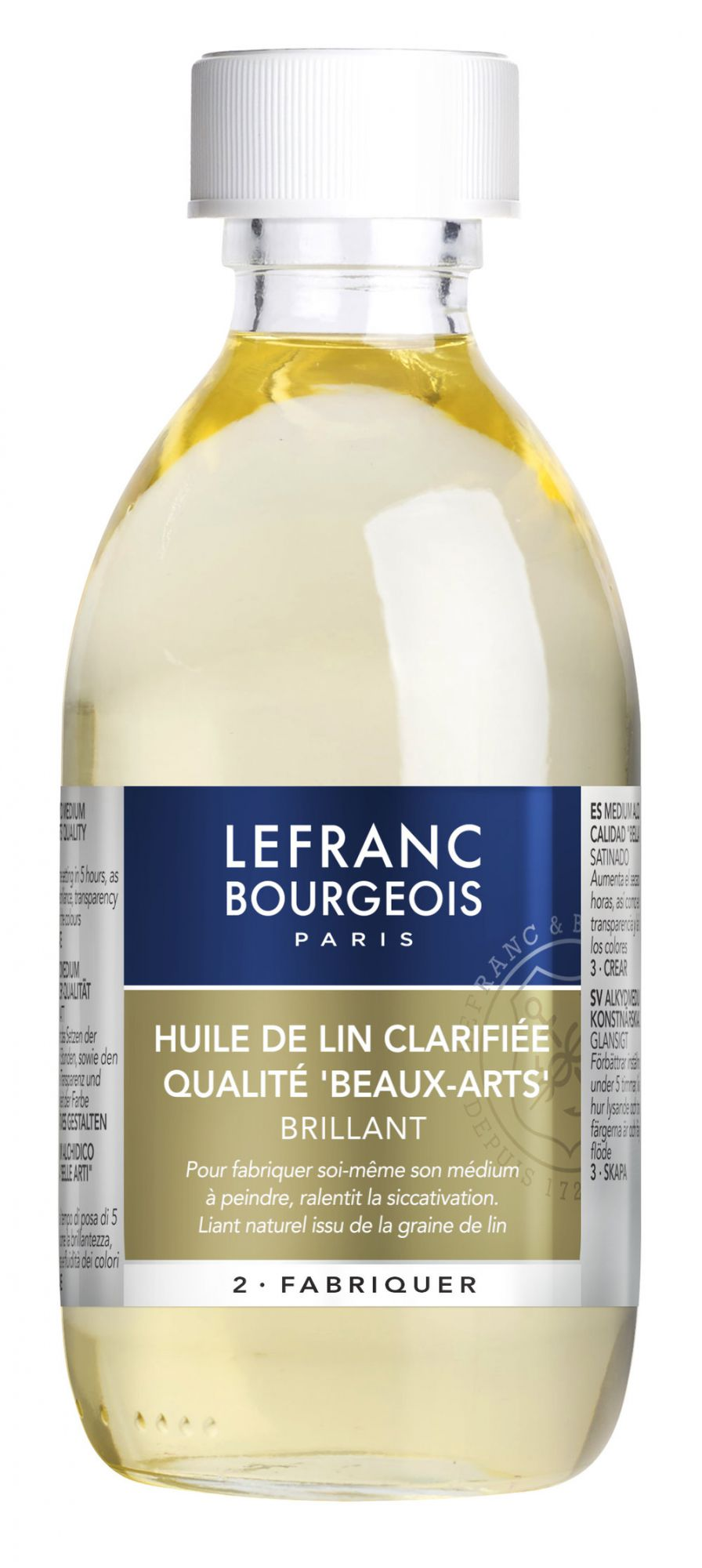 HUILE DE LIN CLARIFIEE 250 ML LEFRANC & BOURGEOIS
