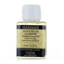huile de lin clarifiée Sennelier 75ml