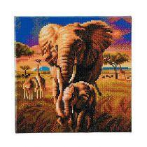 KIT TABLEAU A DIAMANTER 30x30CM ELEPHANT