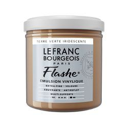 LB FLASHE ACRYLIQUE 125ML POT TERRE VERTE IRIDESCENTE