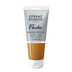 LB FLASHE ACRYLIQUE 80ML TUBE OR FONCÉ IRIDESCENT