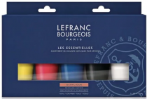 LEFRANC BOURGEOIS ACRYLIQUE FINE SET LES ESSENTIELLES  5 X 80ML