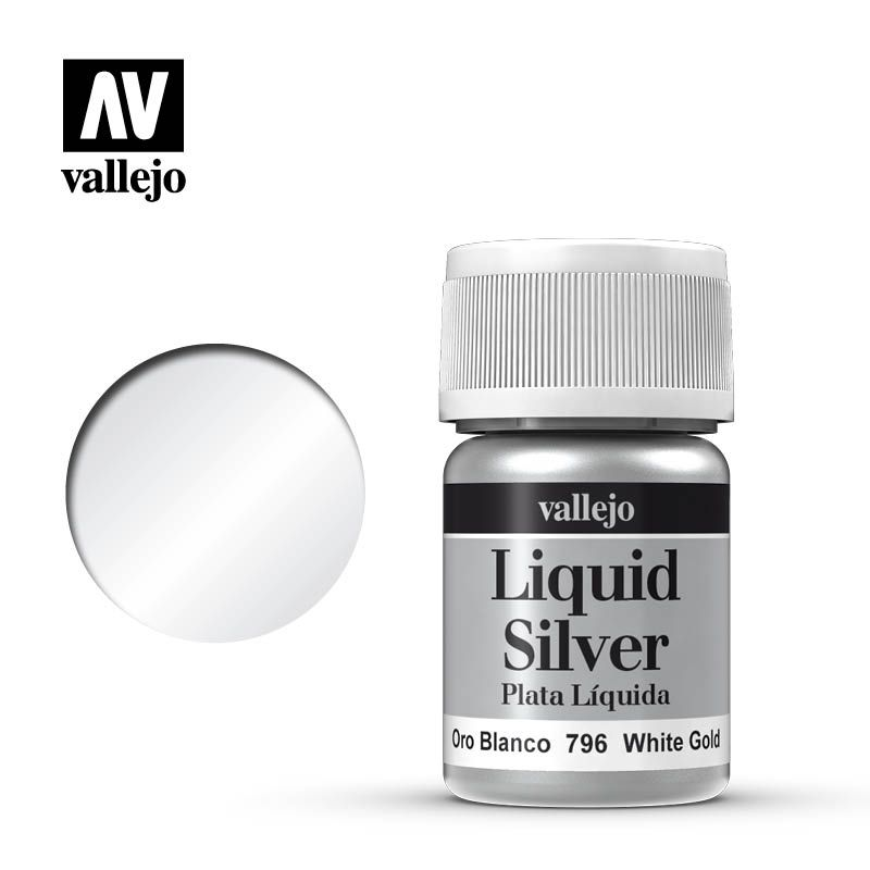 LIQUID SILVER 796 WHITE GOLD 35ML (ALCOHOL BASED)