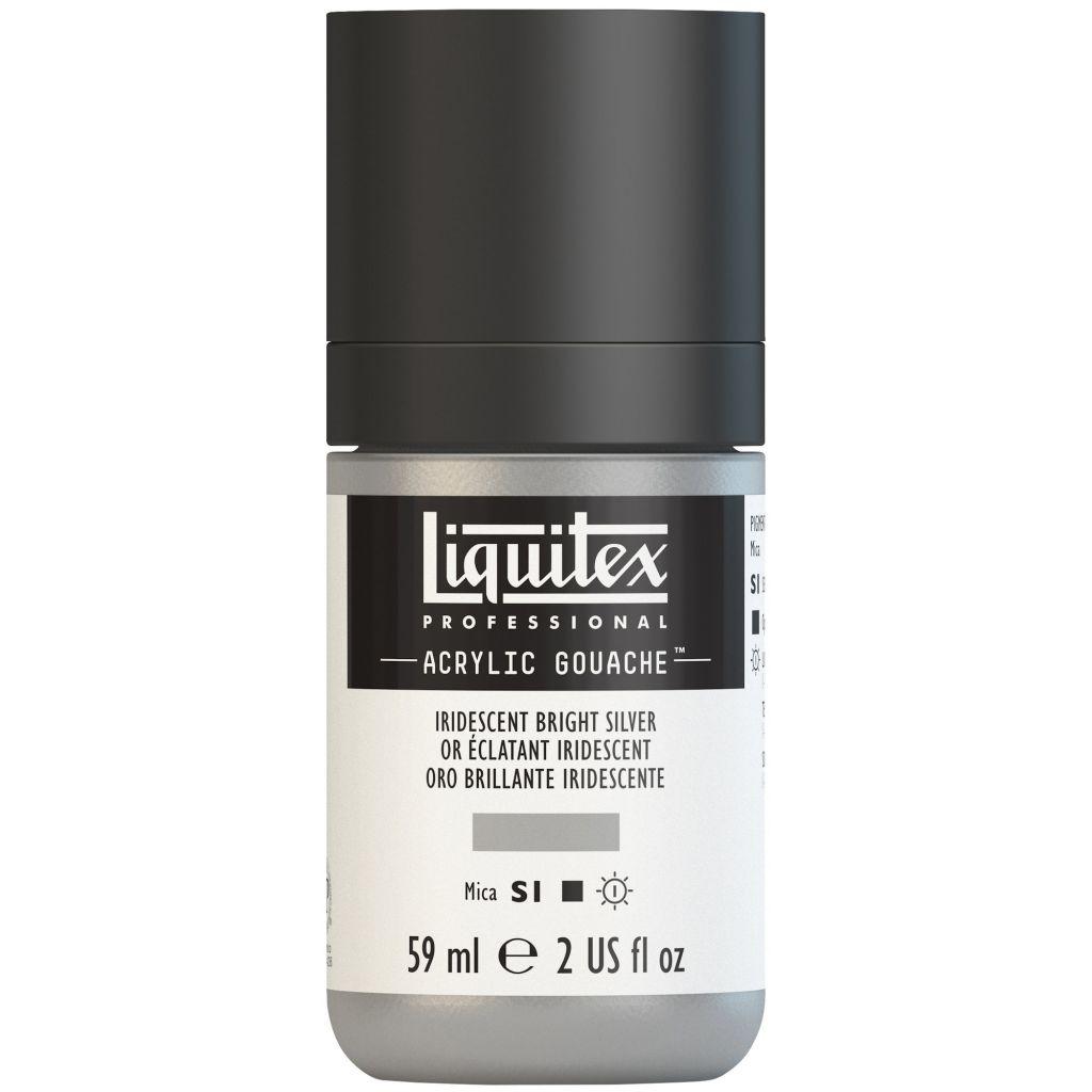 LIQUITEX ACRYLIC GOUACHE 59ML ARGENT IRIDESCENT S1