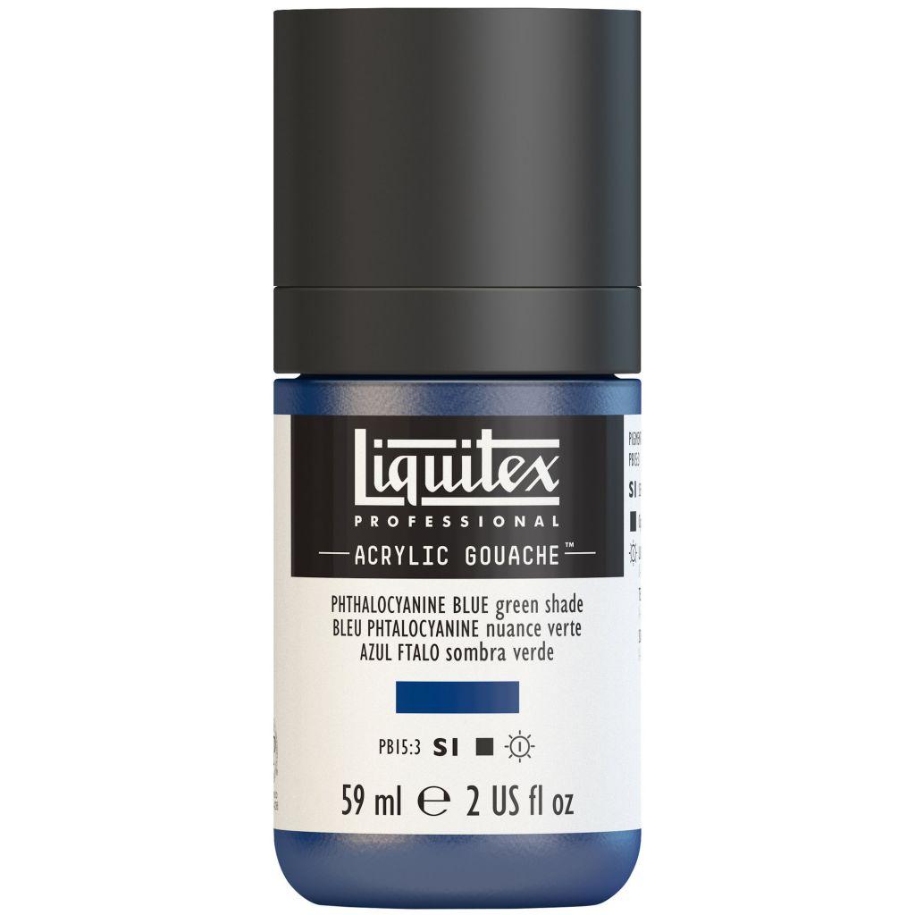 LIQUITEX ACRYLIC GOUACHE 59ML BLEU PHTALO (NUANCE VERTE) S1