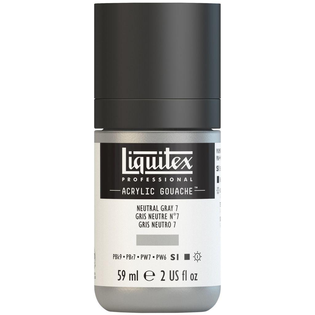 LIQUITEX ACRYLIC GOUACHE 59ML GRIS NEUTRE 7 S1