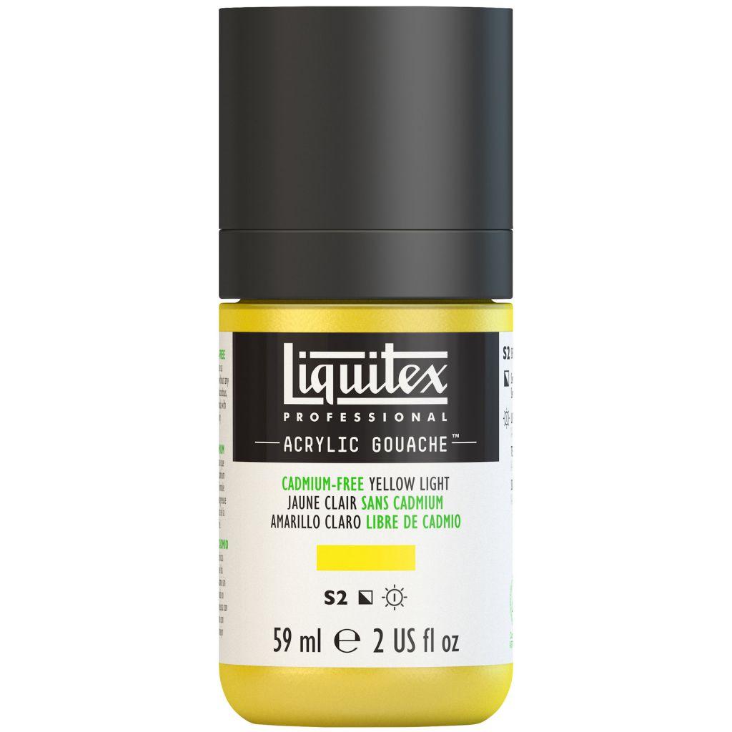 LIQUITEX ACRYLIC GOUACHE 59ML JAUNE CLAIR SANS CADMIUM S2