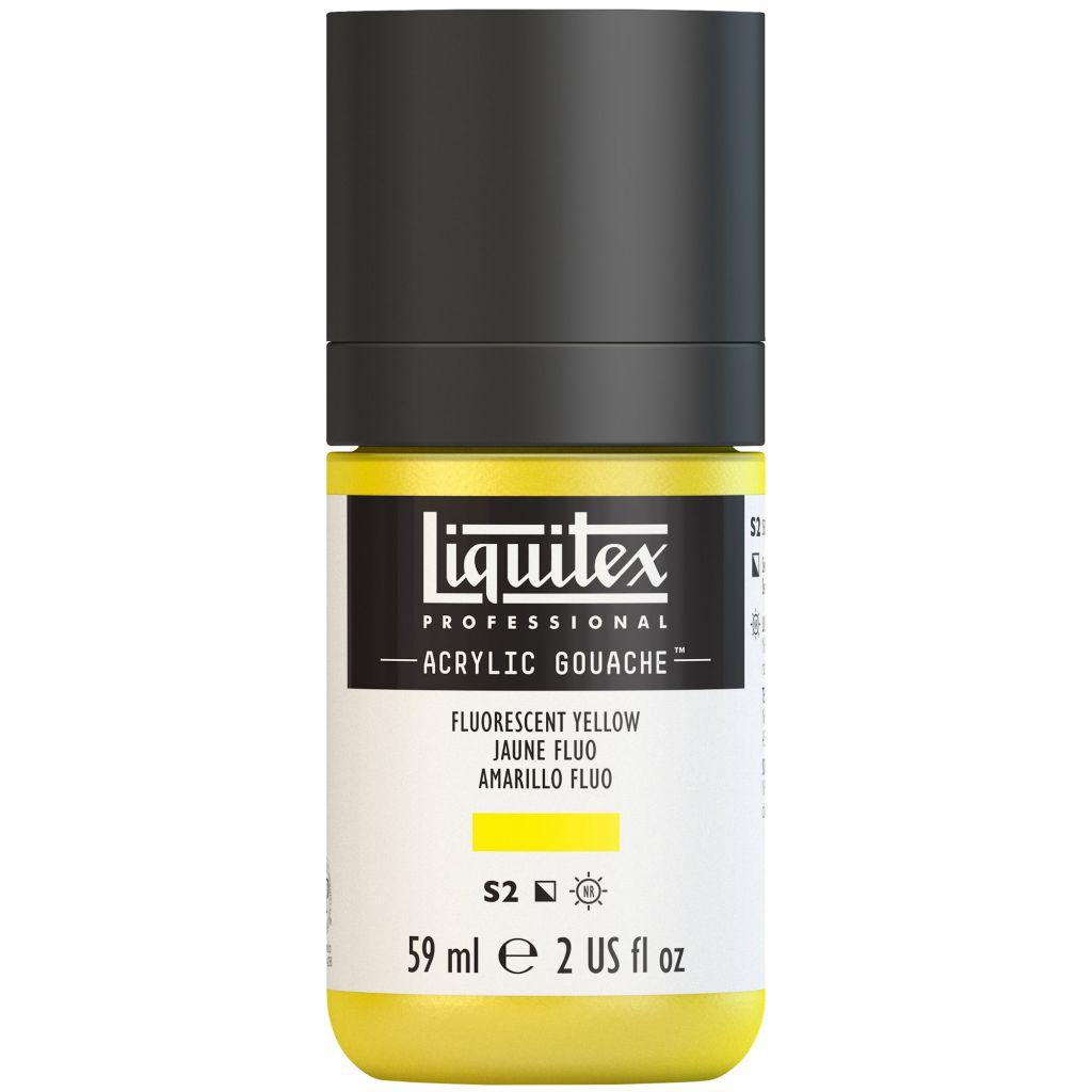 LIQUITEX ACRYLIC GOUACHE 59ML JAUNE FLUORESCENT S2