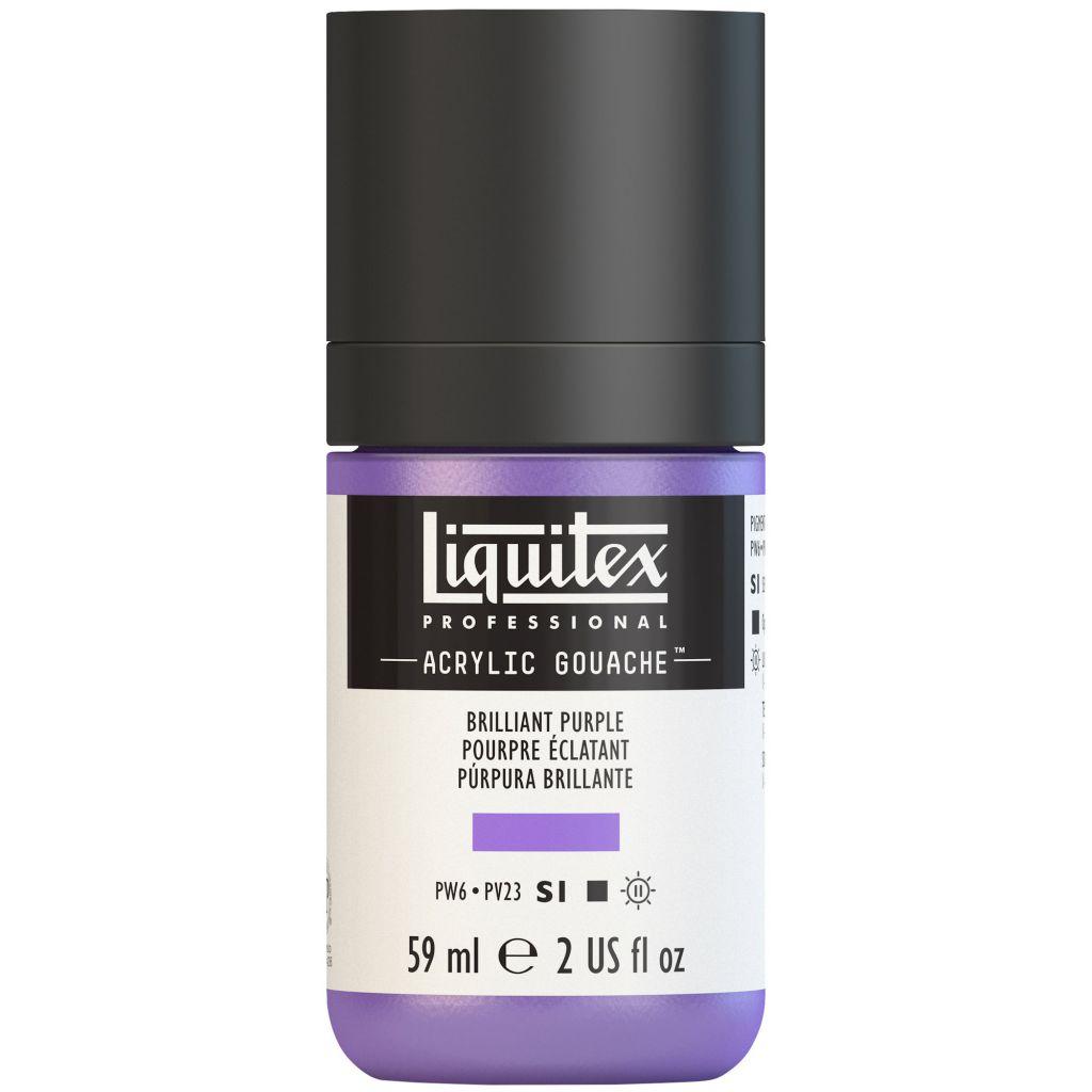 LIQUITEX ACRYLIC GOUACHE 59ML POURPRE BRILLANT S1