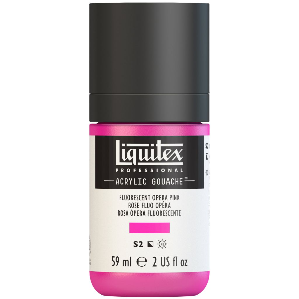 LIQUITEX ACRYLIC GOUACHE 59ML ROSE FLUORESCENT S2