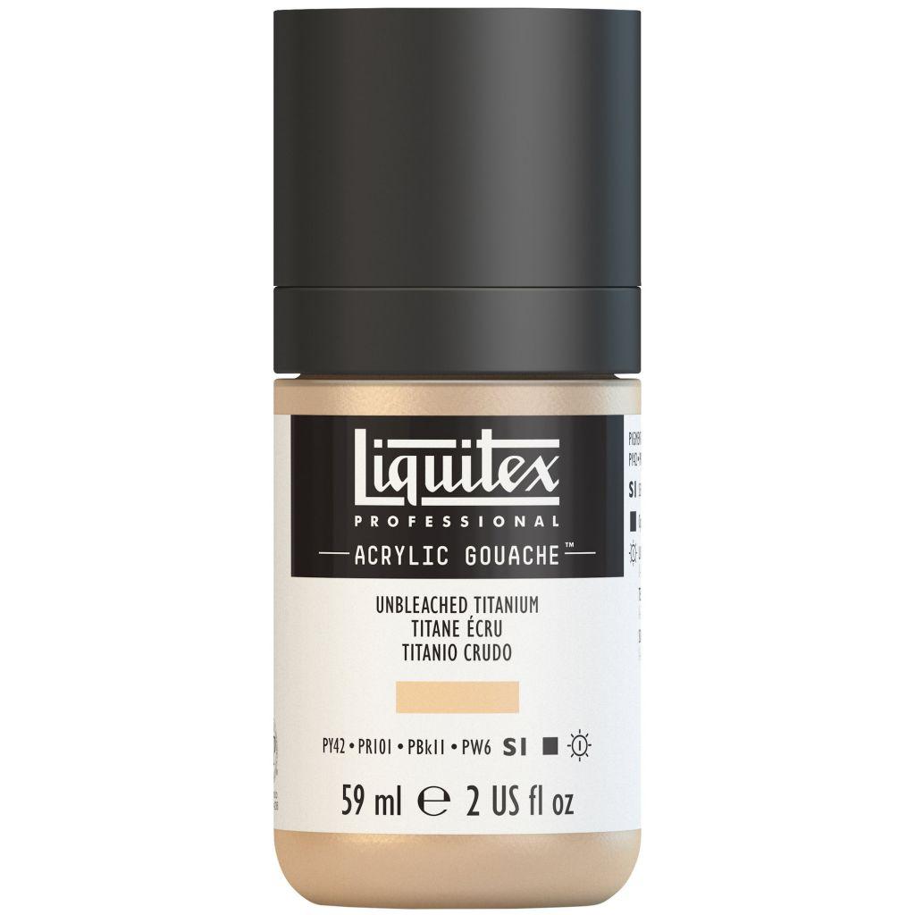 LIQUITEX ACRYLIC GOUACHE 59ML TITANE ECRU S1
