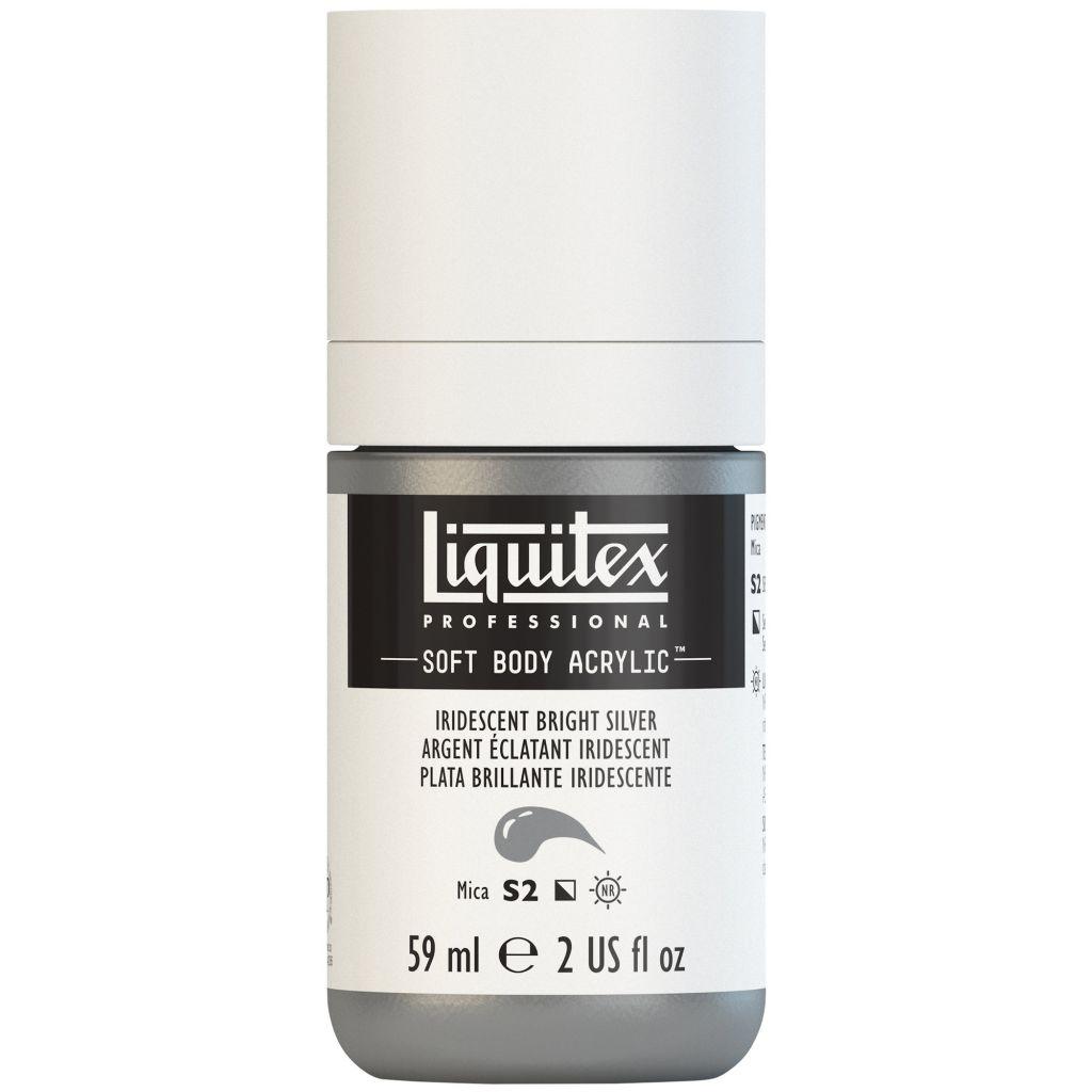 LIQUITEX SOFT BODY ACRYLIC 59ML ARGENT IRIDESCENT