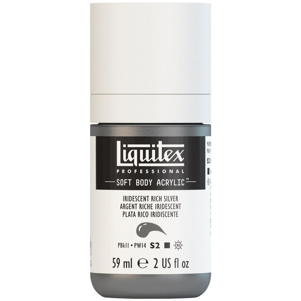 LIQUITEX SOFT BODY ACRYLIC 59ML ARGENT RICHE