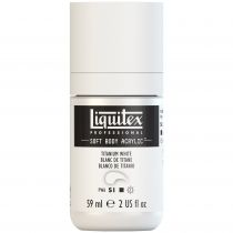 LIQUITEX SOFT BODY ACRYLIC 59ML BLANC DE TITANE S1