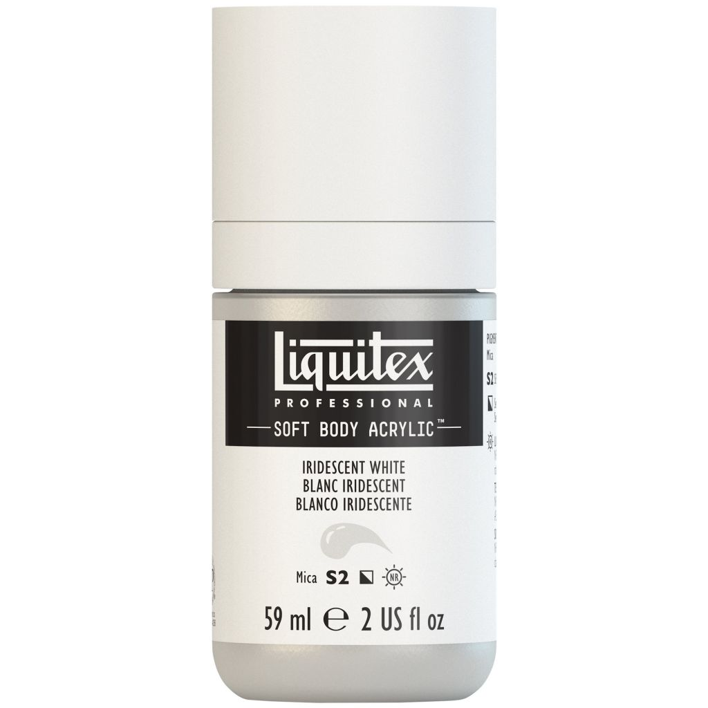LIQUITEX SOFT BODY ACRYLIC 59ML BLANC IRIDESCENT