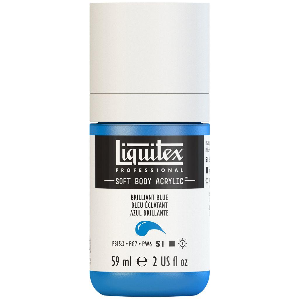 LIQUITEX SOFT BODY ACRYLIC 59ML BLEU BRILLANT