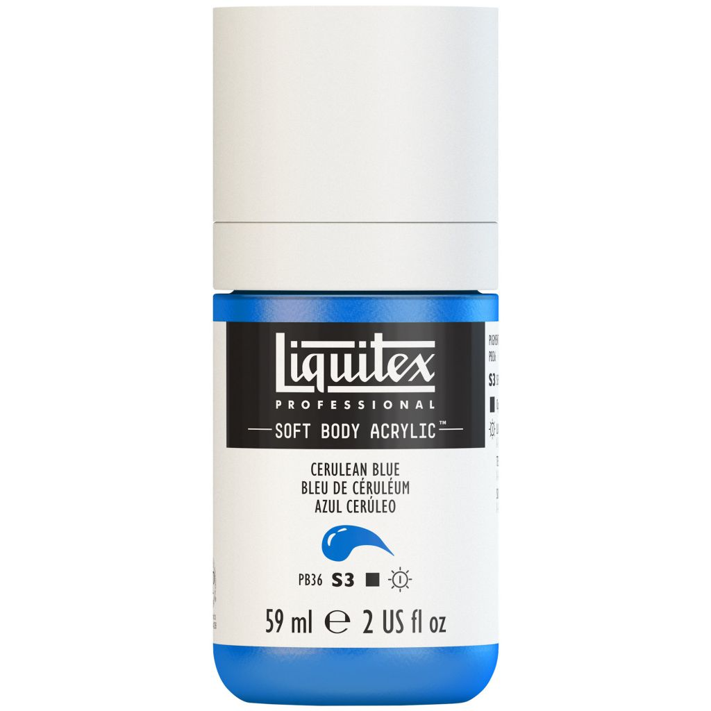 LIQUITEX SOFT BODY ACRYLIC 59ML BLEU CERULEUM