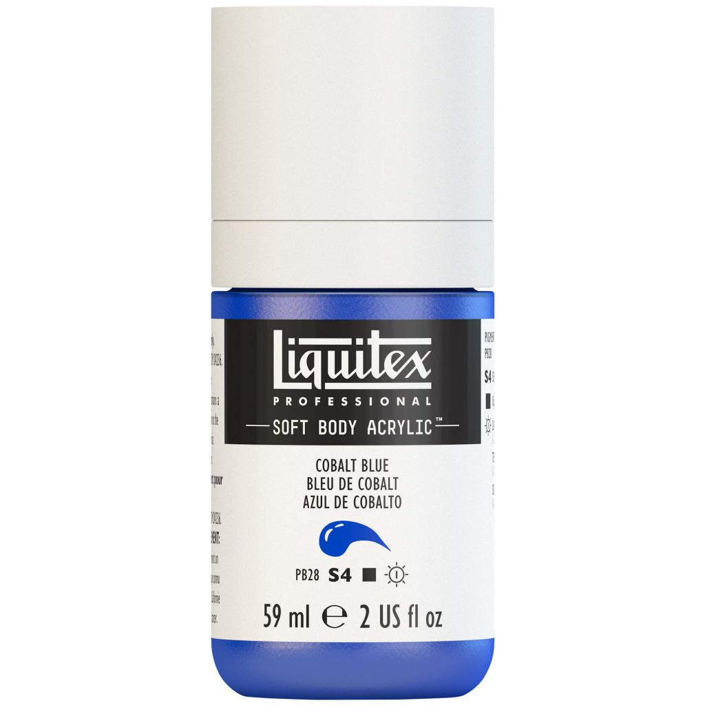LIQUITEX SOFT BODY ACRYLIC 59ML BLEU COBALT